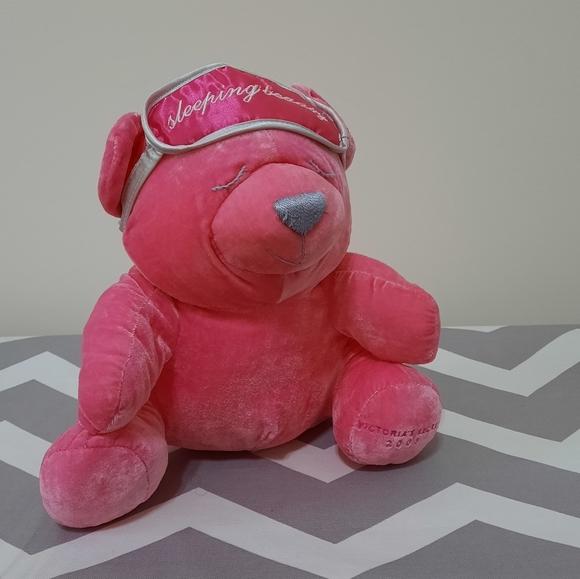 Victoria secret stuffed bear sleeping beauty bear